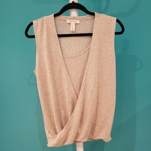 White House Black Market Grey Sleeveless Top